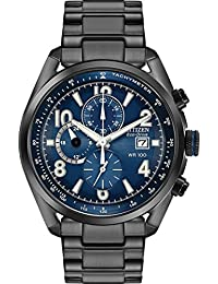 Citizen Eco-Drive Watch in Black Ion Plated Stainless Steel