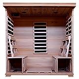 Radiant Saunas BSA2418 4-Person Hemlock Infrared