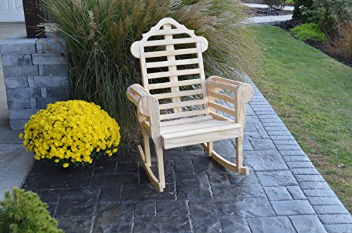 Pine Country Unfinished Outdoor Marlboro Porch Rocker Amish Made USA