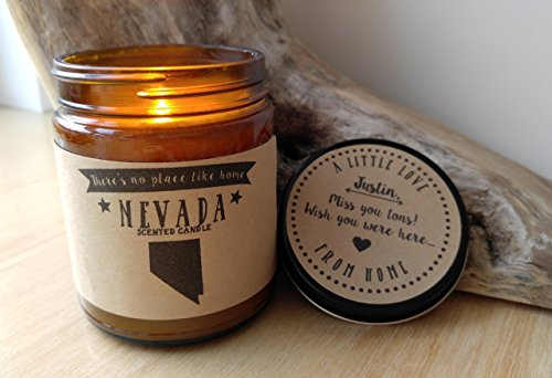 Nevada Scented Candle Missing Home Homesick Gift Moving Gift New Home Gift No Place Like Home State Candle Thinking of You Valentines Day Gift