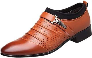 Kaister Baskets_Chaussures Décontractées Respirant Chaussures Paresseuses Hommes Affaires Robe Pointu Chaussures en Cuir