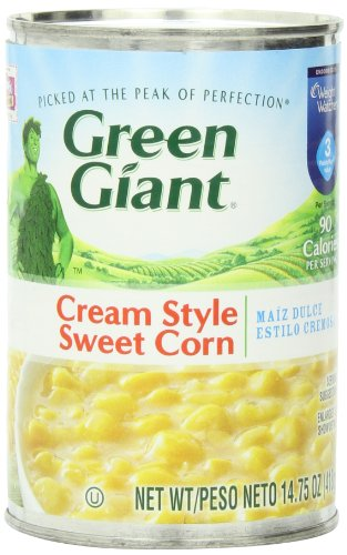 Green Giant Cream Style Corn, 14.75-Ounce (Pack of 8) (Sweet Corn Cream Style)