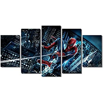 Picture Sensations® Framed Canvas Art Print, Spider-Man Marvel Comic Book Spiderman Movie Super Hero Wall Canvas Art - 60