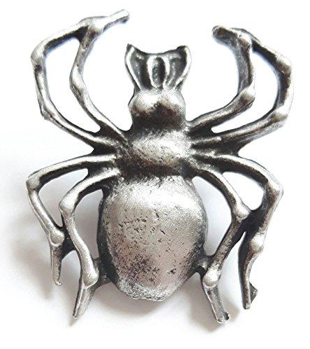 Spider fabriqué à la main en étain anglais Pin's (épinglette Badge + 59MM Badge + Sac cadeau