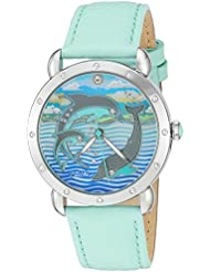 Bertha Womens BTHBR5101 Estella Turquoise/Multicolor Leather Watch