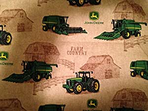 """John Deere combines "" Lined Placemat, Bowl Mitt, Hot Pad, Lined Table Runner (Bowl Mitt 1.5 Quarts)"