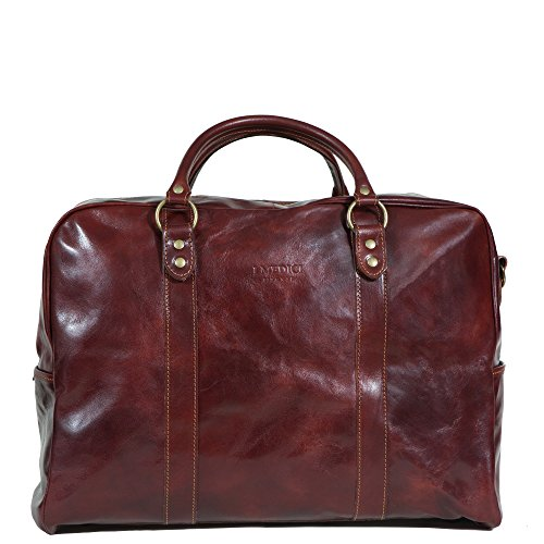 I Medici Grande 20'' Duffel Bag, Italian Leather Travel Luggage in Brown by I Medici