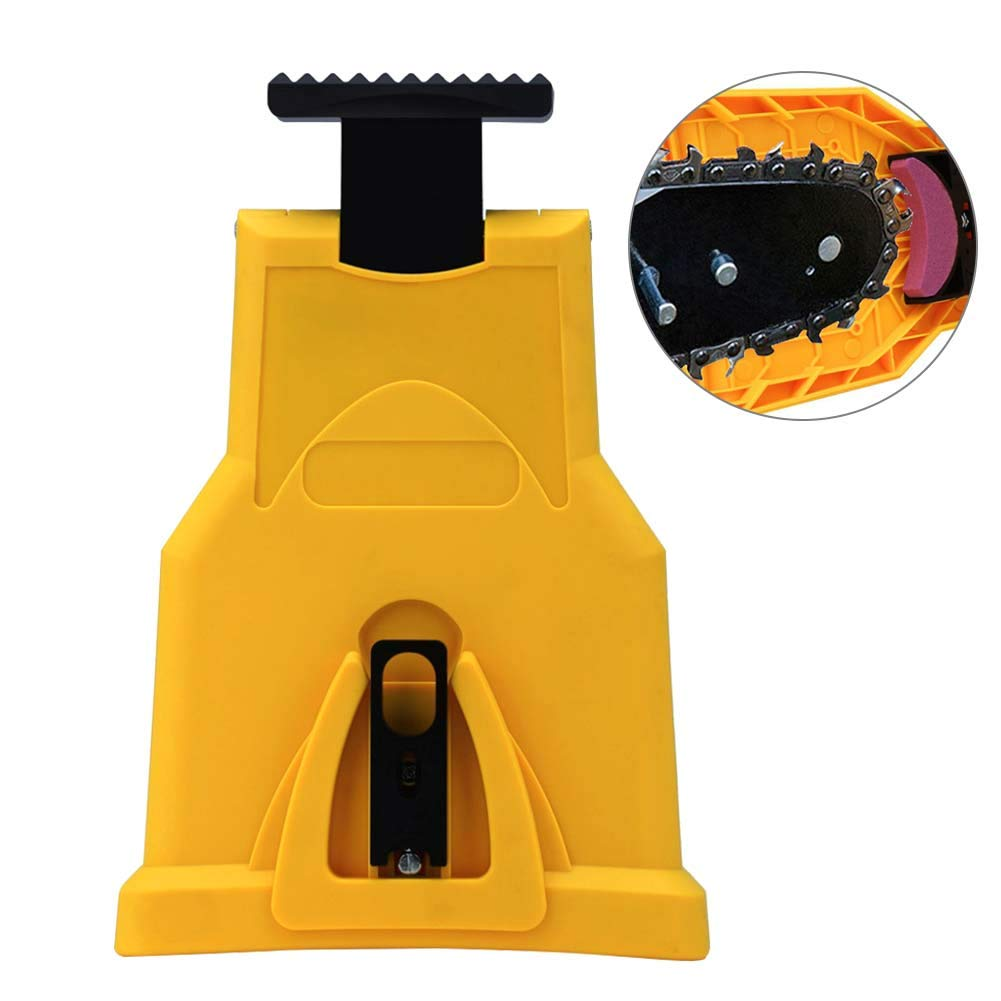 Bespick Chainsaw Sharpener, Chain Saw Blade Sharpener Portable Fast-Sharpening Stone Grinder Tool Fit for Two Hole Chain Saw Bar by Bespick