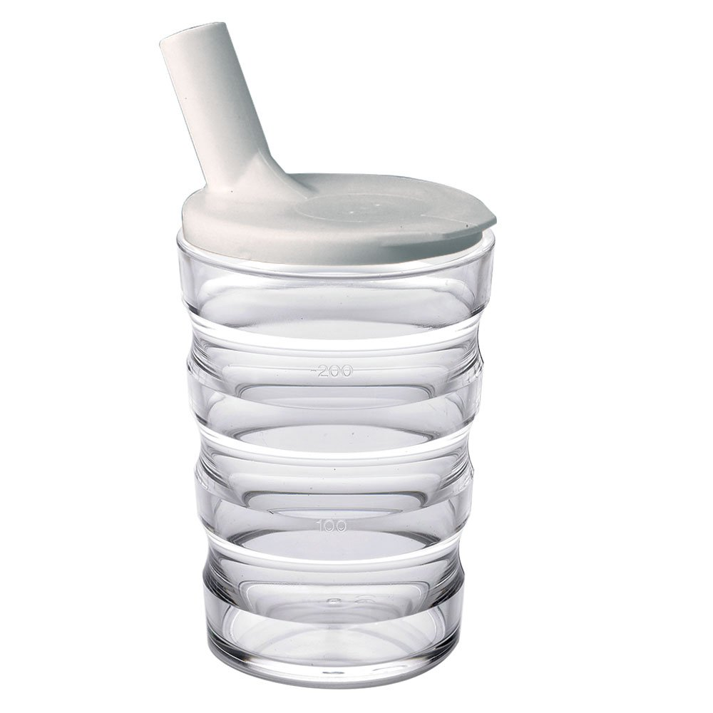 Ableware 745910000 Sure Grip Cup with Lid, Clear