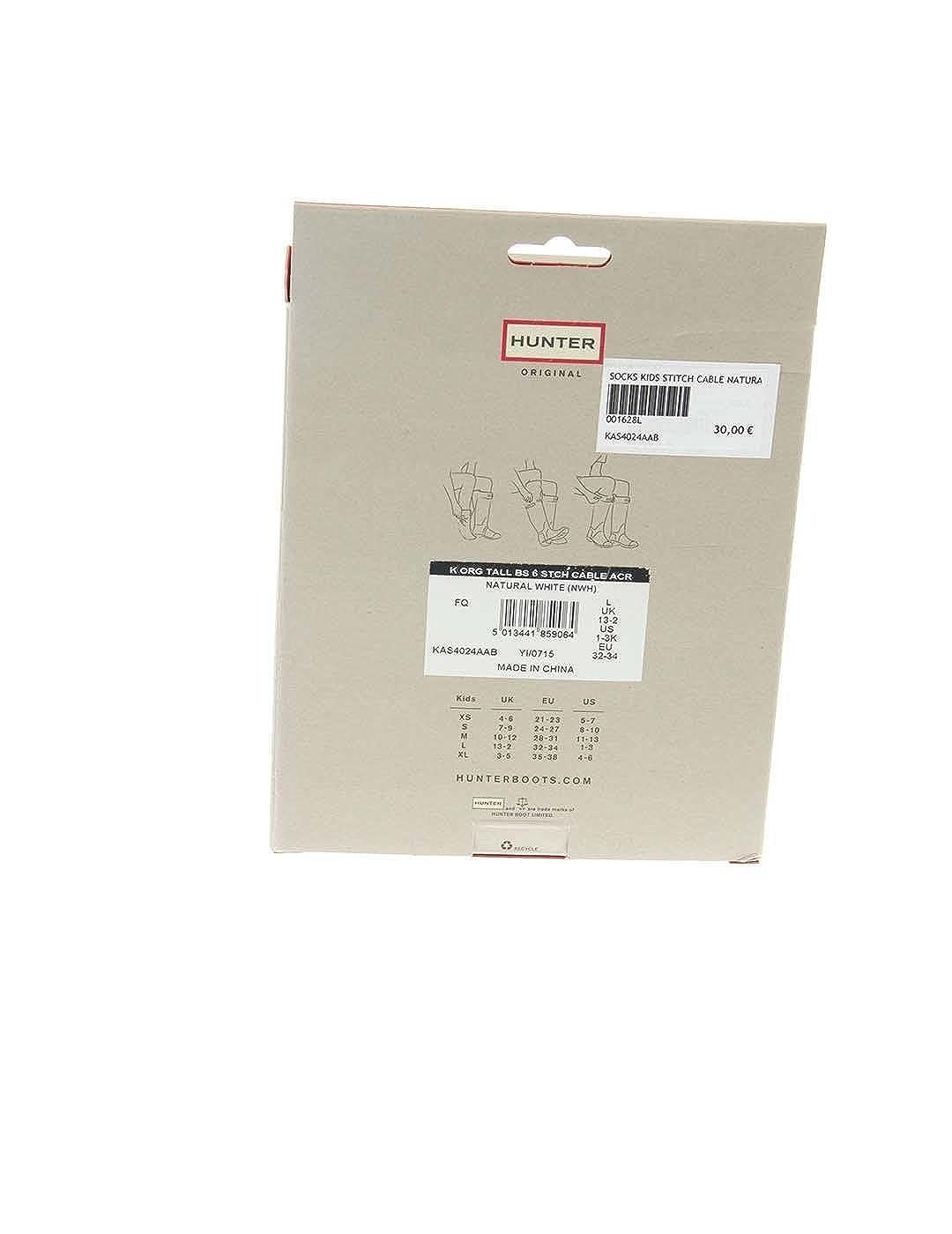 Calcetines Hunter Cable Beige XL Beige: Amazon.es: Zapatos y complementos