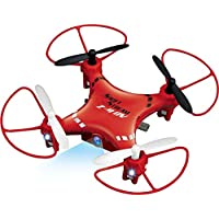 4Hz 5-Channel Remote Control Mini Red Drone with 6-Axis Gryo