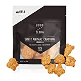Good Zebra- High Protein Cookie Snack Crackers With Whey Protein and Pea Protein - All Natural Snacks - Macro Friendly Snacks - Vanilla Cookies (Box of 12)