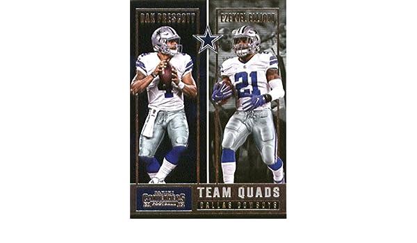 94a49a68983 Amazon.com: 2017 Panini Contenders Team Quads #1 Dak Prescott/Dez Bryant/Ezekiel  Elliott/Jason Witten Dallas Cowboys Football Card: Collectibles & Fine Art