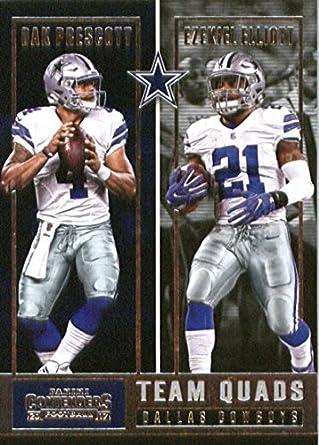 88cb56698 Amazon.com  2017 Panini Contenders Team Quads  1 Dak Prescott Dez Bryant Ezekiel  Elliott Jason Witten Dallas Cowboys Football Card  Collectibles   Fine Art