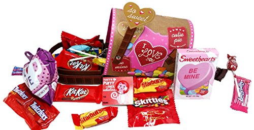 Be My Valentine ~ Fun Valentines Day Themed Mailboxes ~ Filled with Assorted Treats (Large)