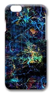 Colorful Crumpled Pattern Polycarbonate Hard Case Cover for iphone 6 plus 5.5 inch 3D