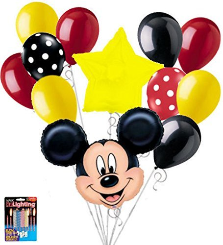 12 pc Mickey Mouse Theme Balloon Bouquet Party