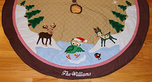 Cabin Christmas Tree Skirt