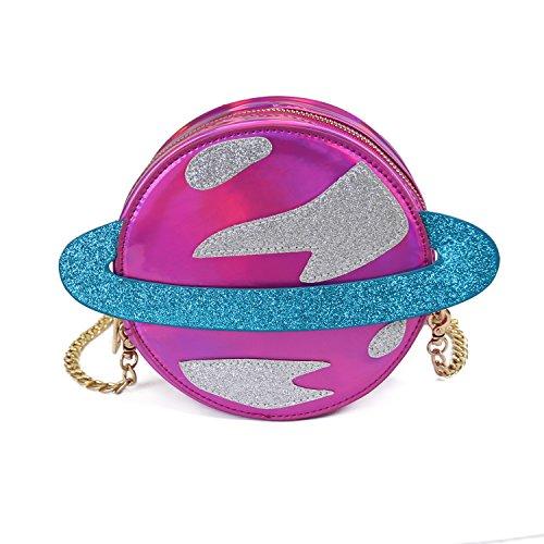 red rose Cross Women Orbit body Bag Bag Bag Laser Shoulder Planet Lanpet P7Wp7q