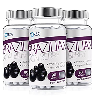 FORZA Acai Berry Reduced Caffeine Diet Pill & Slimming Tablet - 270 Capsules