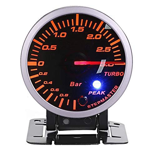 Qii lu Turbo Boost Meter,2.5inch 60mm 3.0 Bar LED Car Modification Turbo Boost Gauge Meter Pointer DC12V: