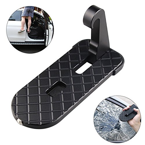AHongem (Upgraded 2.0) Vehicle Hook U Shaped Slam Latch Doorstep Folding RV Step Ladder Pegs with Safety Hammer Doorstep Foot Pegs Easy Access for Car Rooftop Roof-Rack Truck, SUV, Jeep by AHongem