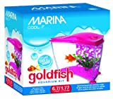 Marina Cool Goldfish Kit, Pink, Small/1.77-Gallon