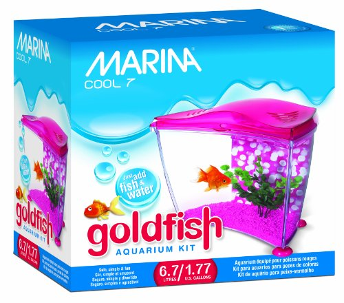 Marina Cool Goldfish Kit, Pink, Small/1.77-Gallon ()