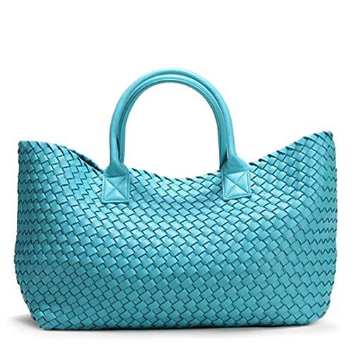 Blu Per Bianca Tracolla A colore Il Della Borsa Isogea Carrello Spesa Mano Cielo wgxqCTHt74