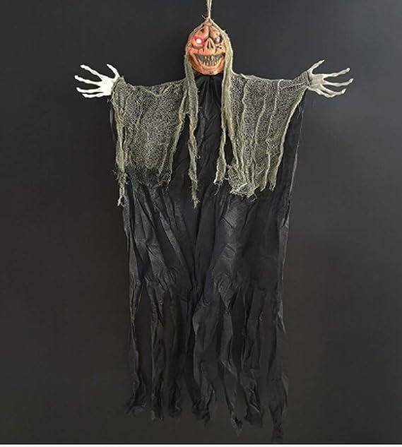DecentGadget Halloween Decoration Hanging Ghost for Halloween Yard Scary Decor Halloween Party Prank Decoration White