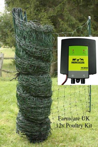 Farm Care Poultry net 25 meter 12v kit FarmcareUK