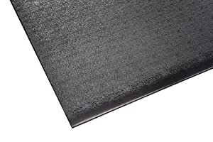 Supermats Solid Heavy Duty P.V.C. Mat for Home Gyms/Weightlifting Equipment (4-Feet x 6-Feet) by Supermats