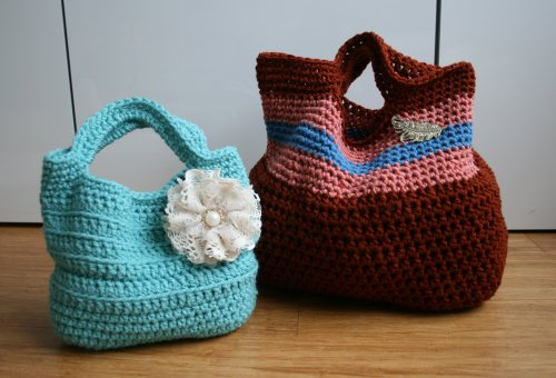 Crochet Pattern vintage inspired handbags (41) Two designs in the same pattern