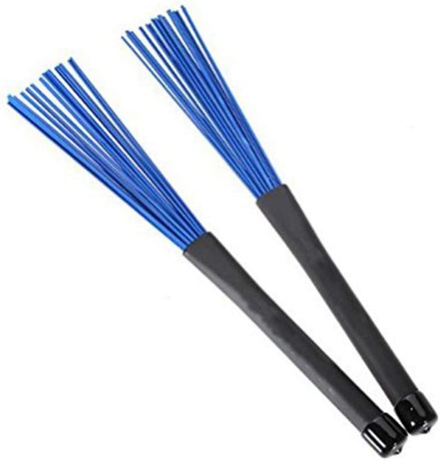 Generic 1 Pair Jazz Drum Brushes Retractable Drum Sticks 32cm black//blue Cost-effective and Good Quality Yevison Drum Brushes
