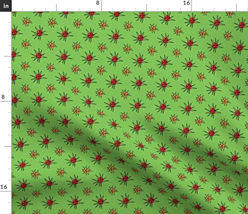 Atomic Fabric - Atomic Retro Mid Century Atomic Retro Vintage Starburst Mid Century Green Mod Print on Fabric by The Yard - Sport Lycra for Swimwear Performance Leggings Apparel Fashion