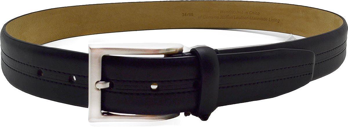 Tasso Elba 35mm Vachetta Casual Belt Black 38
