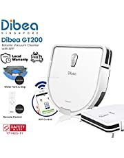 [Dibea Singapore] Dibea GT200 D-Shape Smart Robotic Vacuum Cleaner + Water Tank + APP + High Precision Gyroscope Navigation System | 2 in 1 Vacuum and Mopping | Quiet | Self Charging | Floor | Carpet