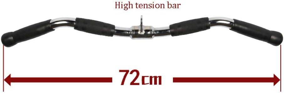 Non-Slip Handgrips Revolving Straight Bar,Tricep Press Down Bar for Cable Machine