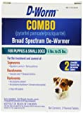 D-Worm 2 Count Combo Broad Spectrum De-Wormer for Puppies and Dogs, Small
