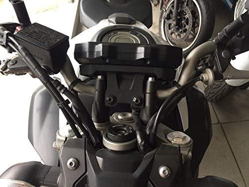 Bay4Global GY-MT07 Motorcycle Handlebar Risers for Yamaha MT07 FZ07 Black