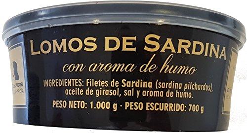 Lomos de sardinas ahumadas El pescador de Villagarcía tarro de 1 kg.