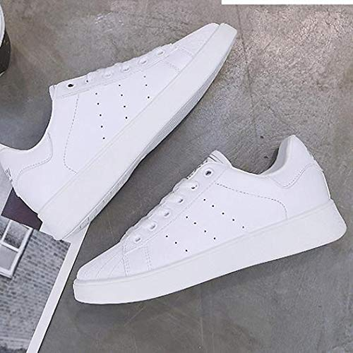 Otoño Primavera PU Flat Heel Negro Blanco Sneakers Comfort Mujer Black Zapatos ZHZNVX Rojo Round Toe Poliuretano de xXwBYqqA