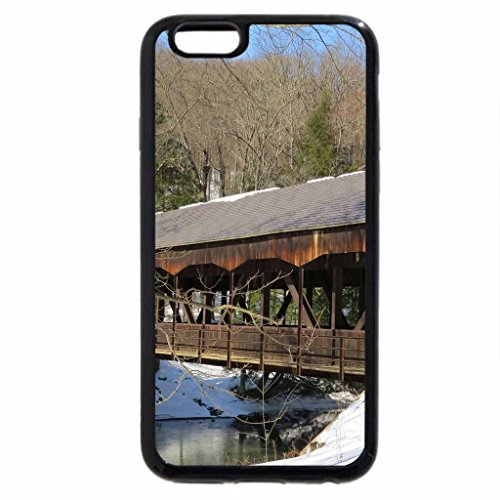 iPhone 6S / iPhone 6 Case (Black) The Covered Bridge in Winter