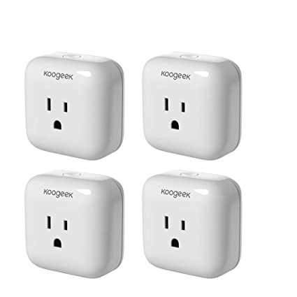 4-PACK Koogeek WiFi Smart Plug Outlet for Apple HomeKit with Siri Control  Electronics Monitor Energy Consumption (4 PCS)