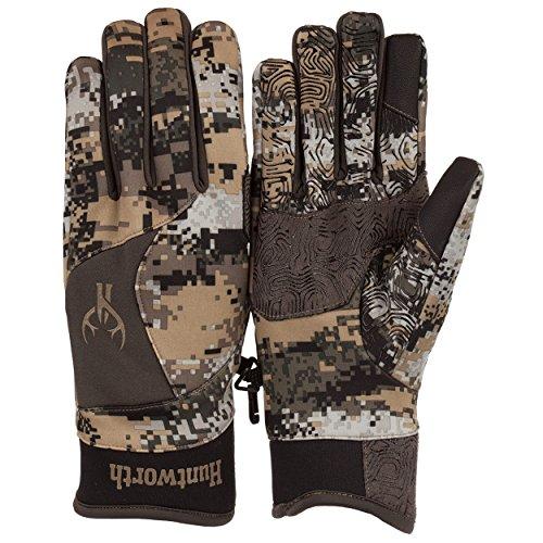 Huntworth Men's Long Pile Fleece Stealth Hunting Gloves, Disruption, ()