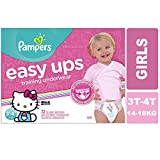 Cheap Pampers Easy Ups Pull On Disposable Training Diaper for Girls, Size 5 (3T-4T), Super Pack, 72 Count