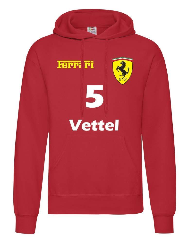Felpa con cappuccio PER BAMBINI Ferrari Formula Uno5 Vettel16 Leclerc F1 Inspired