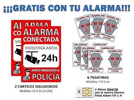 Kit de Alarma SIN cuotas Domótica TA-1 (WiFi + LAN + GSM) ▶ ★★★★★ Alarma para tu CASA o NEGOCIO • TU Seguridad en TU mano, SIN cuotas y SIN límites ...