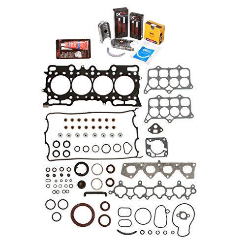 Evergreen Engine Rering Kit FSBRR4017\0\0\0 Fits 97-01 Honda Prelude 2.2L H22A4 Full Gasket Set, Standard Size Main Rod Bearings, Standard Size Piston Rings