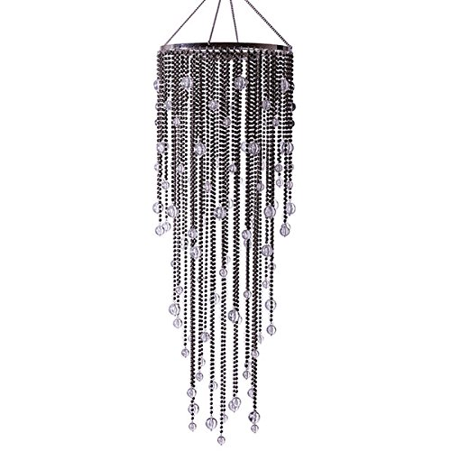 Large Steel Grey Acrylic Drop Chandelier by Event Decor Direct